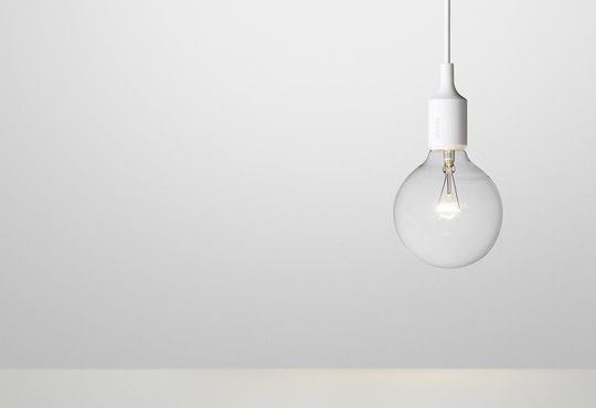 """:: LIGHTING :: MATTIAS STÅHLBOM ON THE DESIGN """" - adore these light fixtures, back to the basic beautiful bulb #lighting #products"""