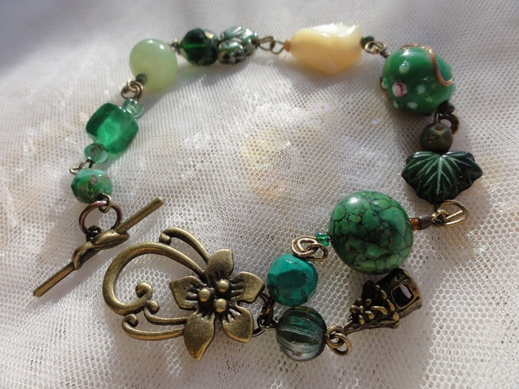 RESERVED  Forest Green Bracelet - Long length 9 inches