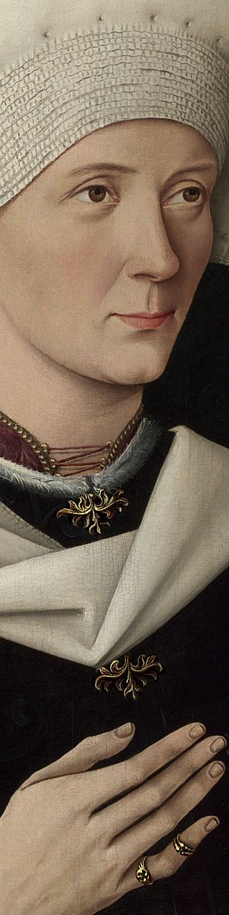Swabian, Portrait of a Woman of the Hofer Family, ca.1470, detail