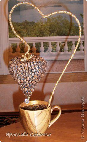 Бонсай топиарий Валентинов день кофейное творение Кофе
