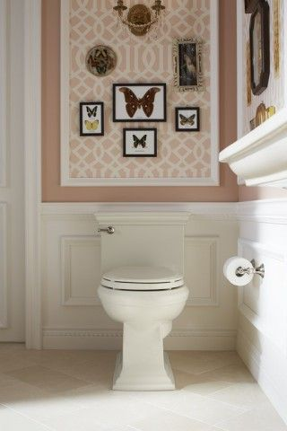Memoirs toilet   Devonshire toilet tissue holder   Style tip: Choose a toilet with details that echo the room's classic architecture.