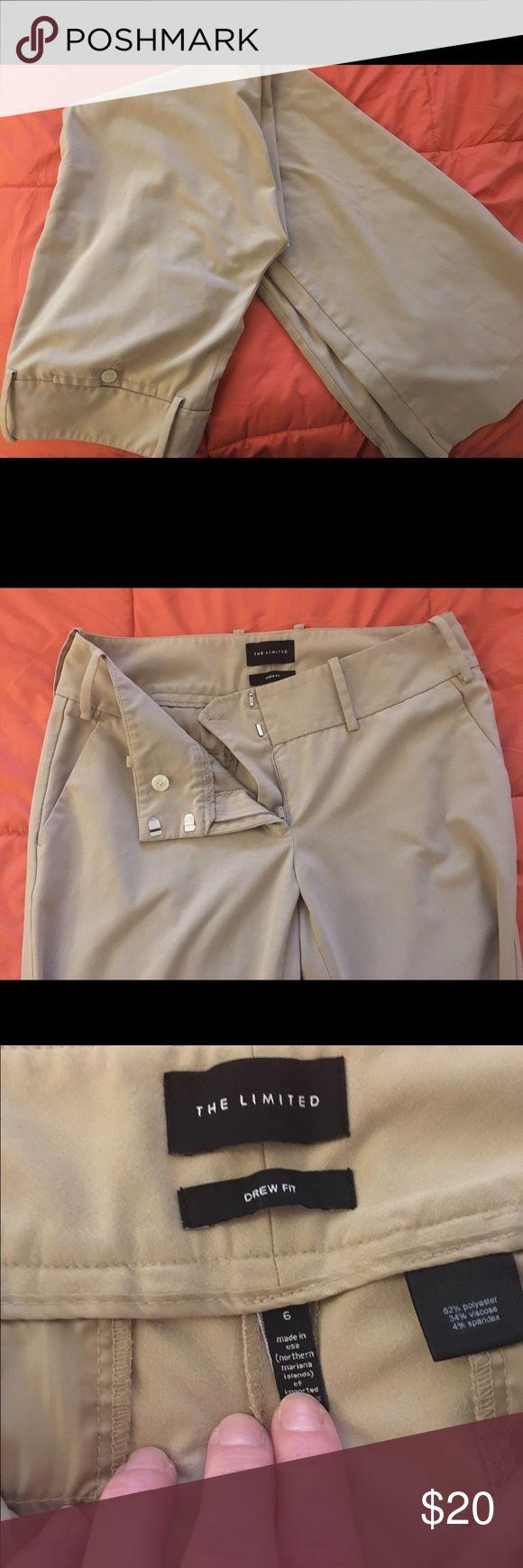 Khaki slacks Size six khaki slacks. Drew fit from The Limited. Flare leg, mid waist fit The Limited Pants Trousers