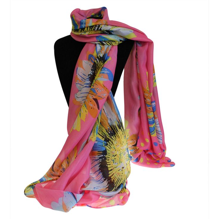 Wholesale Scarves Sunflowers - HipAngels.com #Wholesale_Scarves_Sunflower_Pink #Wholesale_Scarves_Lange_Sunflower #Scarves_Sunflower_Pink