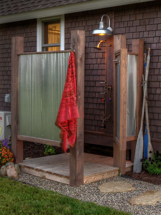 M s de 25 ideas fant sticas sobre ducha de jard n en - Duchas para piscinas exterior ...