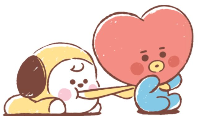 #bt21 #tata #chimmy #baby #kpop #bts #cute #handpainted sticker by BT21 💗 BTS. Discover all ...