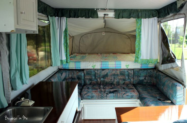 Pop Up Camper Curtains Yes The Cushions Seafoam Green