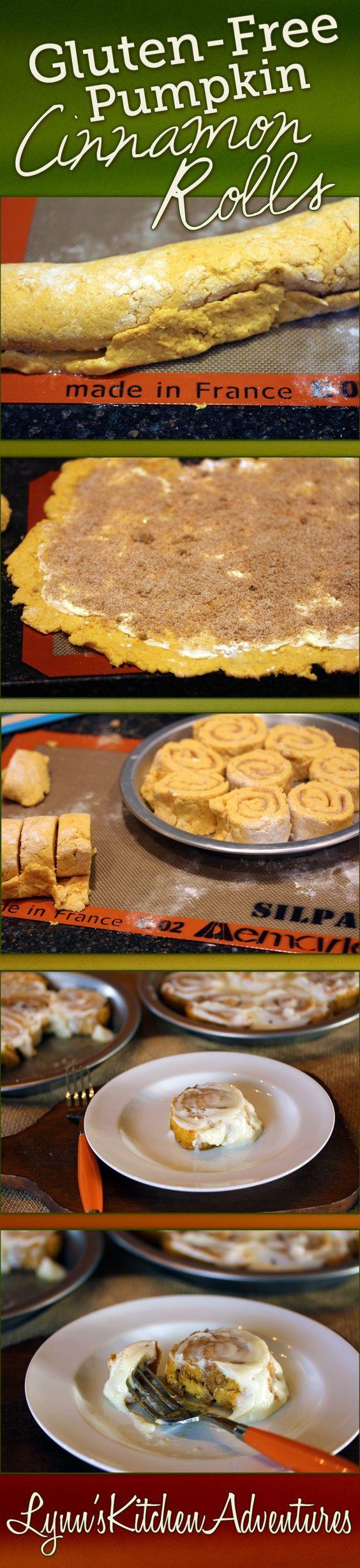 Gluten Free Pumpkin Cinnamon Rolls- Yes you can make gluten free cinnamon rolls at home that taste great!