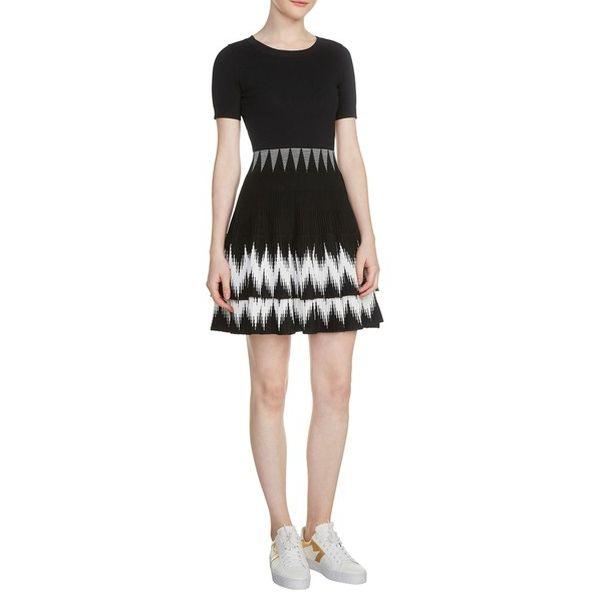eb6a7d7529adad Maje Ralia Knit Skater Dress