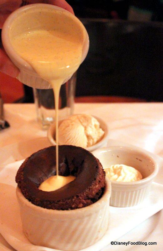 Disney World Recipe: Shula's Steakhouse Chocolate Souffle with Vanilla Sauce #Disney #Recipe