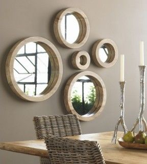 Mirrors make rooms feel larger and brighter with the light they reflect into your space.