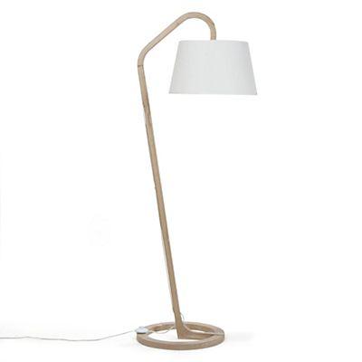 mokuzai lampadaire style scandinave en chne et coton h165cm - Lampadaire Salon