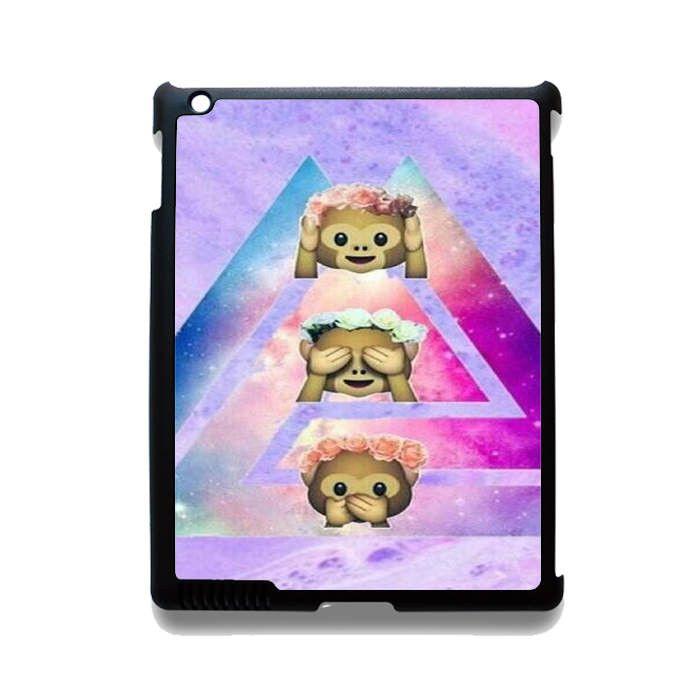 Phone case Emoji monkey Tie Dye Apple Phonecase For Ipad 2 Ipad 3 Ipad 4 Ipad Mini 2 Ipad Mini 3 Ipad Mini 4 Ipad Air 2 Ipad Air