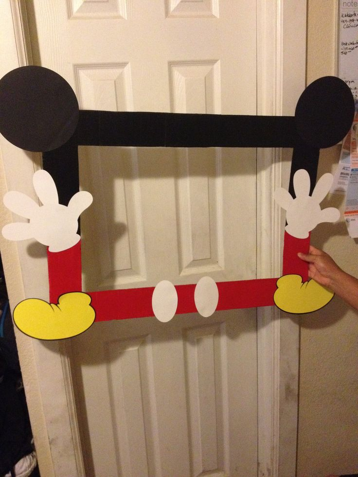 Mickey Mouse photo Booth frame