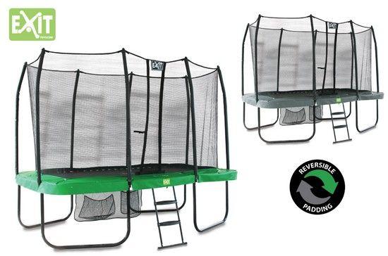 Trampoline Jump Arena Rect. Reversible Vert Et Gris 1 244 x 27 au meilleur prix ! - LeKingStore
