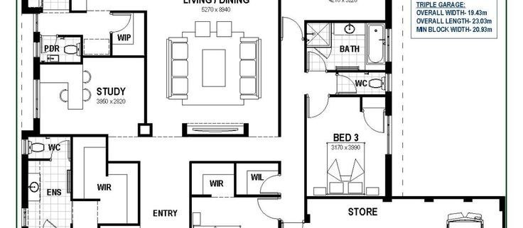 Floor Plan Friday: Open living with triple garage