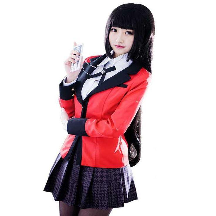 Anime kakegurui yumeko jabami cosplay costume japanese