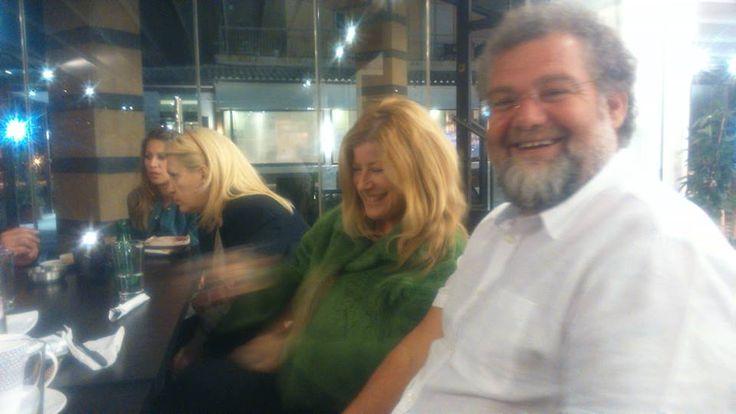 Χρύσανθος Χρυσάνθου (διδάσκων) & Λίνα Βαλσαμίδου (απόφοιτη ΜΠΣ). Γελάτε & μας αρέσει! #retreat2014
