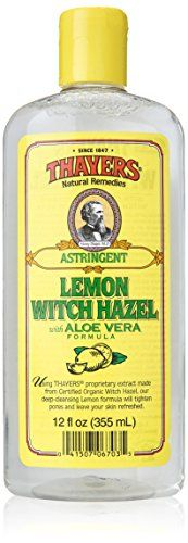 Thayers lemon witch hazel with aloe vera formula toner is made with natural time-tested ingredients including thayers' proprietary, non-distilled extract from the witch hazel shrub (hamamelis virginiana) to cleanse, tone, and soothe your skin. This fresh-smelling, gentle... FULL ARTICLE @ http://www.sheamoistureproducts.com/store/thayers-witch-hazel-astringent-with-aloe-vera-formula-lemon-12-fluid-ounce/?b=5684