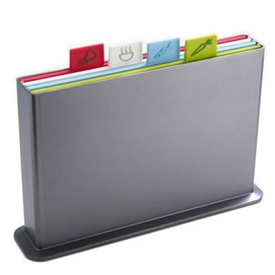 Joseph Joseph Joseph Joseph Index Advance large Chopping Board Set in silver- at Debenhams.com
