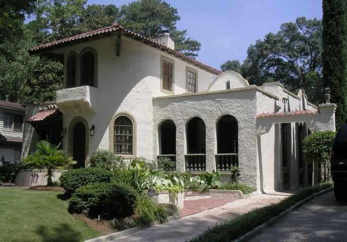 57 best dream home architecture images on pinterest for Spanish colonial exterior paint colors
