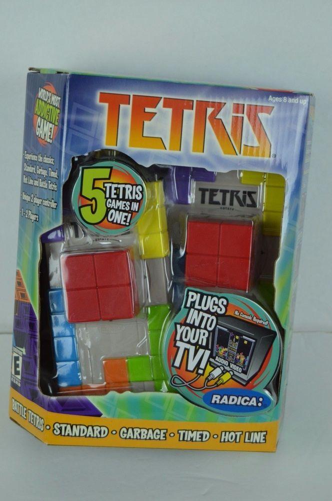 Radica TETRIS Plug & Play TV Video Arcade Game 1-2 players 5 games in 1 NIB 2004 #Radica#Tetris#Plug&Play#TV#Video#Arcade#Game#1-2Players#5Games#NIB#2004