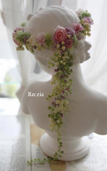 2013.10.6 花冠とリストレット ピンク×ラベンダーピンク : Ro:zic die floristin