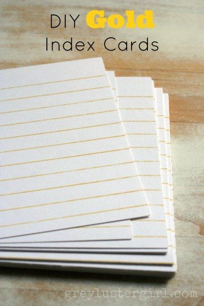 DIY Gold Index Cards
