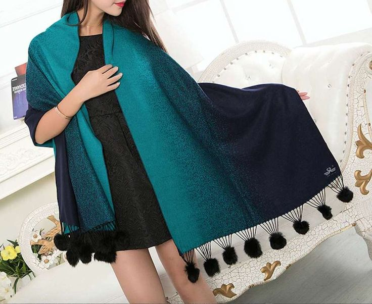 Fashion Womens Cashmere Solid Long Pashmina Shawl Wrap Scarf UK Fast Delivery 20