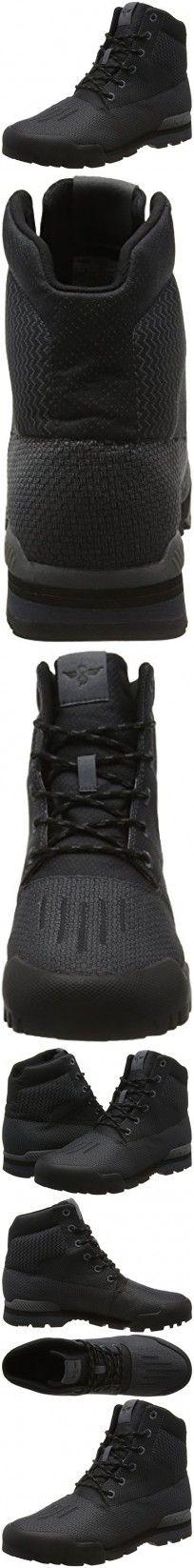 Creative Recreation Men's Torello Rain Boot, Black Smoke, 11 M US