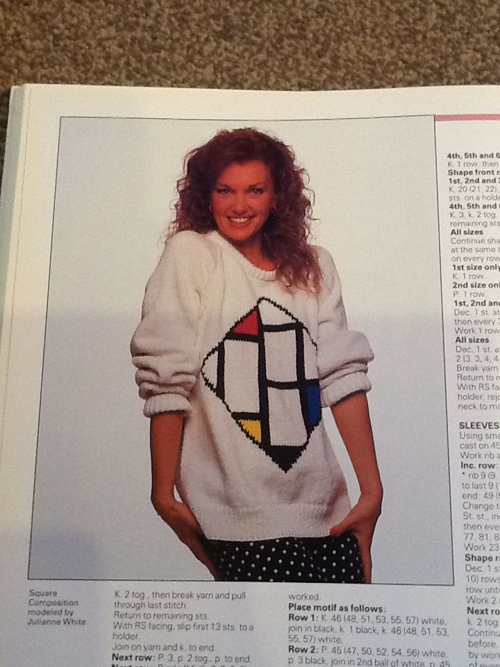 Look look a Mondrian themed jumper! Knitting Masterpieces, 1987