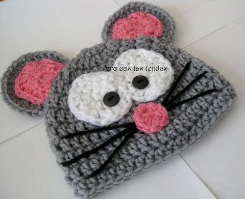 gorros tejidos al crochet niños - bebes -                                                                                                                                                      Más