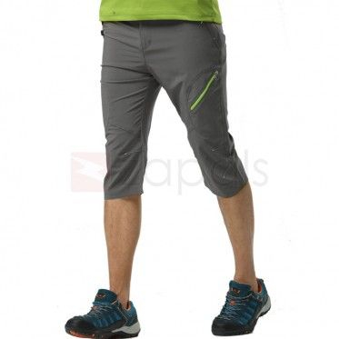 Mens UV Protective Quick Dry Outdoor Capri Pants For Hiking Climbing, Gray