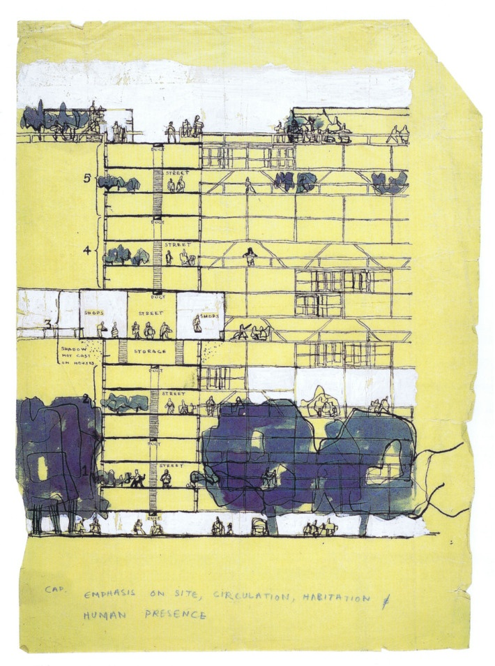 Alison and Peter Smithson, Golden Lane Housing (Project), 1952