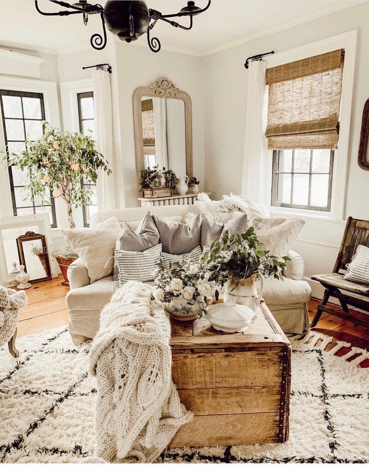 Beautiful Neutral Color Living Room Comfortable Design Decor Farmhouse Decor Living Room Farm House Living Room Living Room Decor
