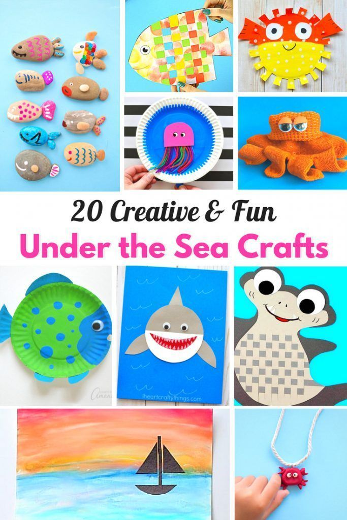 25 Best Under The Sea Crafts For Kids Ocean Themed Kids Crafts