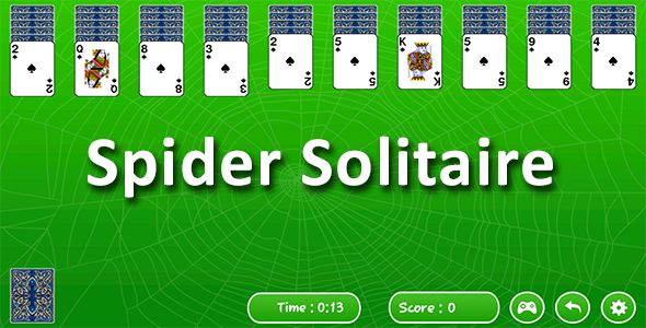 Spider Solitaires Android Game   Admob ad by jksol_infotech Spider Solitaire is a famous & classic solitaire game. Spider Solitaire has a fantastic user interface, beautiful graphics. Spider Solitaire is a fun, challenging and addictive game similar to the classic card game. This game is v