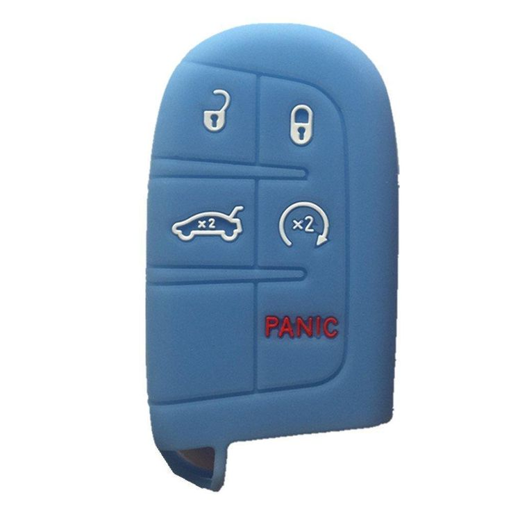 Dodge chrysler jeep 5 button silicone smart key remote fob