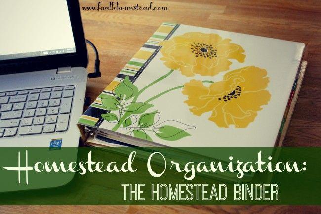 Homestead Organization: The Homestead Binder - Faulk Farmstead (I wish I had done this for our veggie garden!)