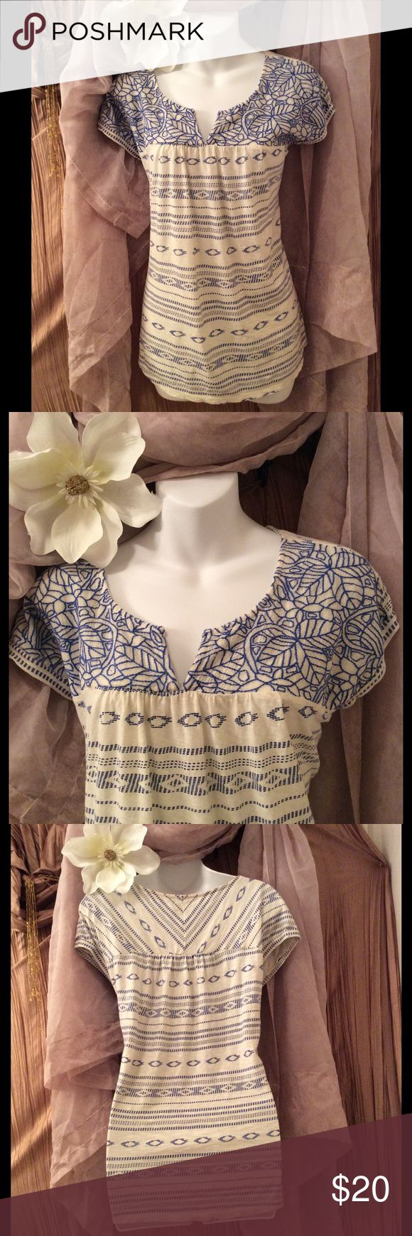 💕LUCKY BRAND💕 Top size L 💕 Very flattering & Beautiful top. Lucky Brand Size L. In Excellent Condition! I absolutely Love the print work and gorgeous detail on this top. Made in India. Made of 100% Cotton. 💕 If you have any questions please feel free to ask, Also Thank you so much for taking a moment to visit my closet! 👍🤗💕I hope you find something that you love! Leave your posh name in the comments so I can check out your closet as well! Thanks, Happy Poshing! 😍😘 Lucky Brand  Tops