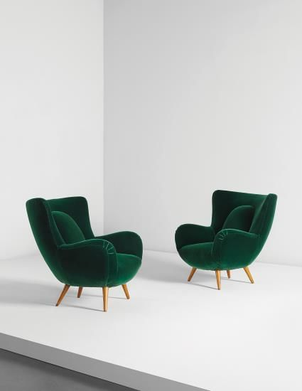 PHILLIPS : NY050115, Carlo Mollino, Pair of armchairs, designed for the Acotto House, Turin
