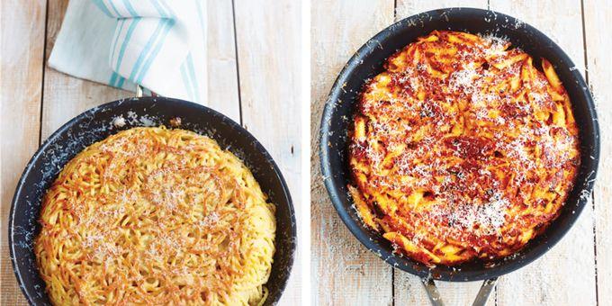 Pasta Frittata via @iquitsugar