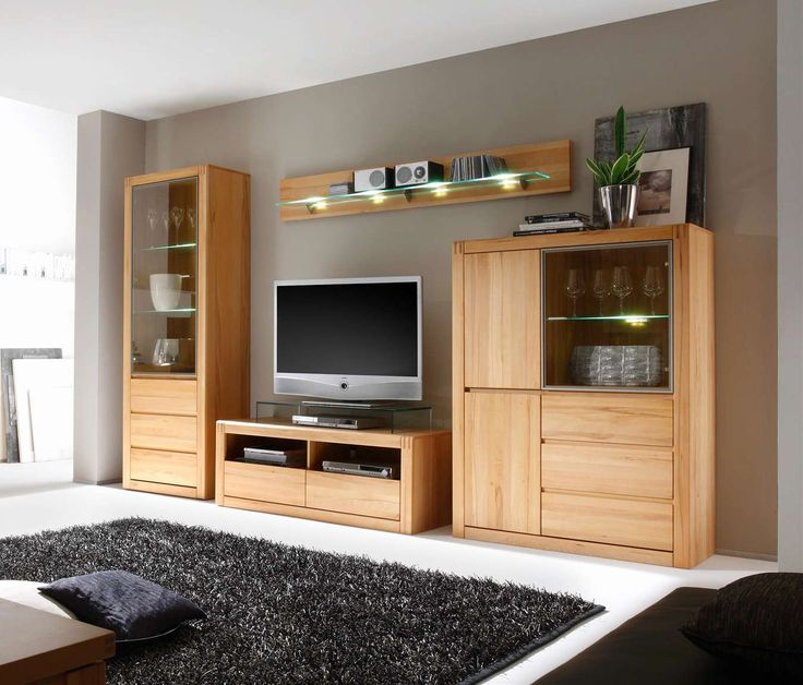 wohnwand eiche grau wohnzimmerschrank eiche modern