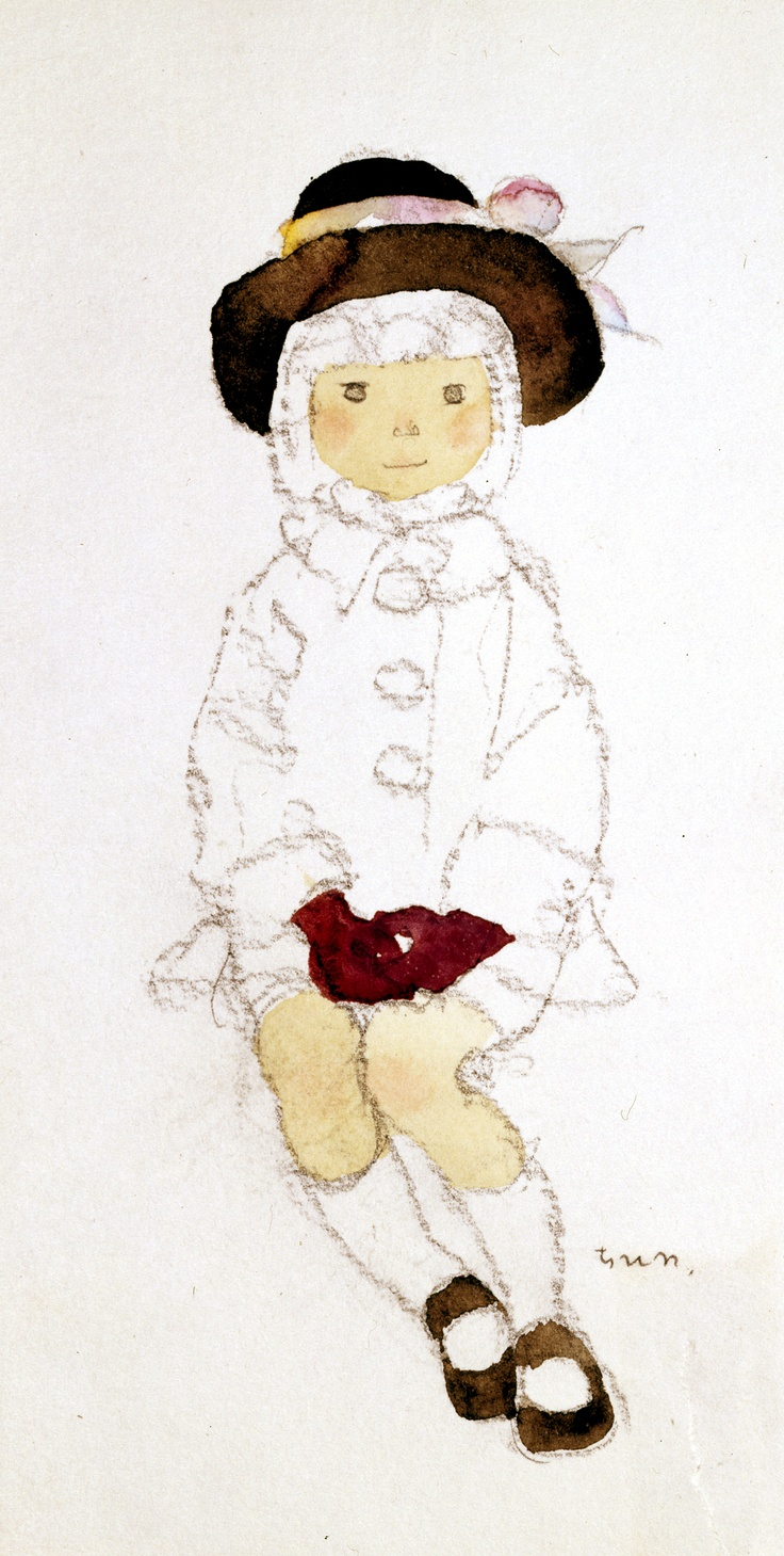 "Iwasaki Chihiro ""Girl Wearing a Brown Hat"" (Early 1970s)"
