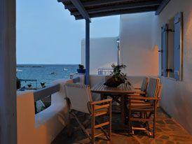 Evita Apartments in the fishing village of Aliki, Paros Greece
