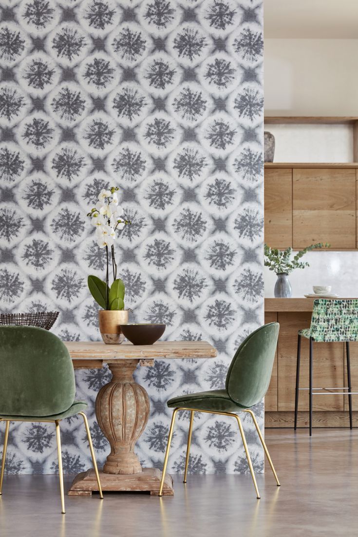 NIHAN WALLPAPER This Halved Geometric Fossil With A Tie Dye Shadowing  Effect Design Looks Great On This Statement Wallpaper From Harlequinu0027s  Anthozoa ...