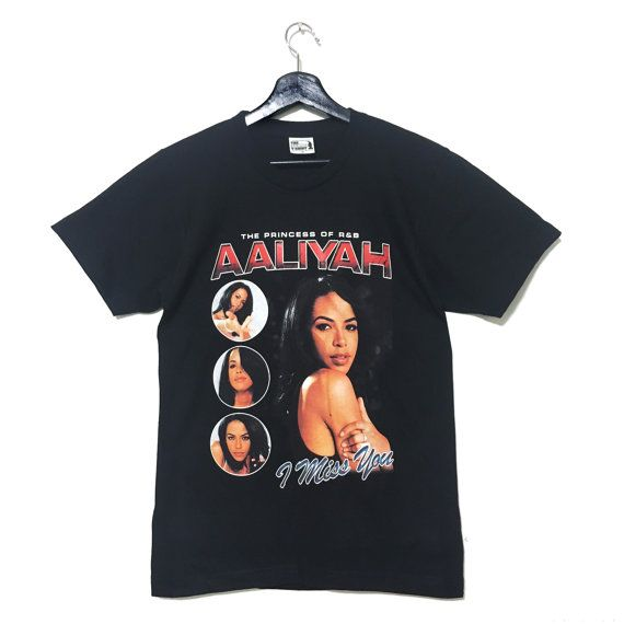 Aaliyah T-Shirt 90's VTG Vintage Parody I Miss You Queen Of R&B One In A Million Tour Try Again Hip Hop