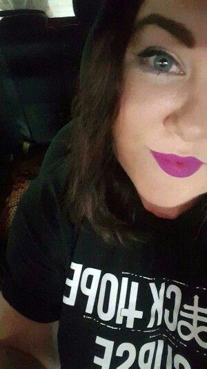Me. Purple matte lips