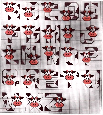 Cow Alphebet, Schema 43 Alfabeti