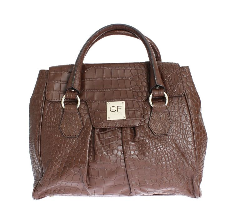 Gianfranco GF FERRE Brown Hobo Shoulder Bag Handbag #bag #brown #cf-color-brown