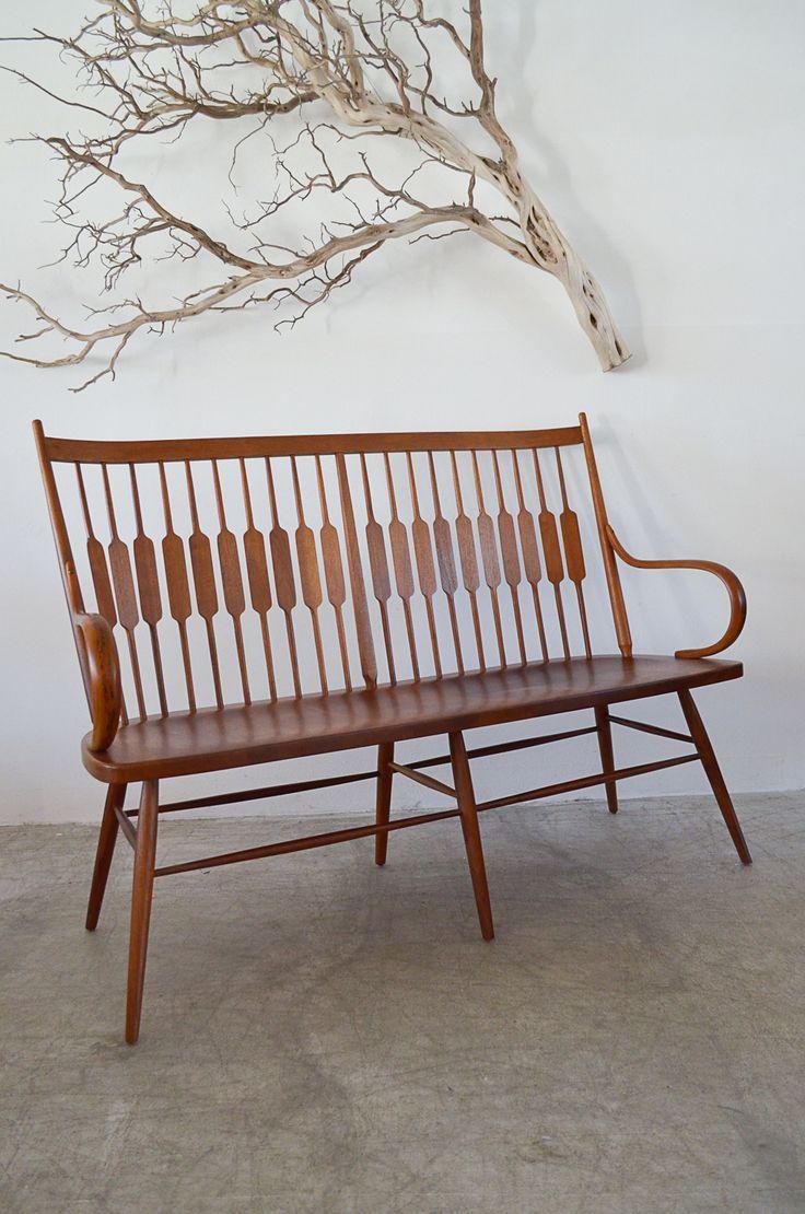 Modern shaker furniture - Sold Walnut Shaker Style Bench By Kipp Stewart And Stuart Mcdougall The Modern Vault